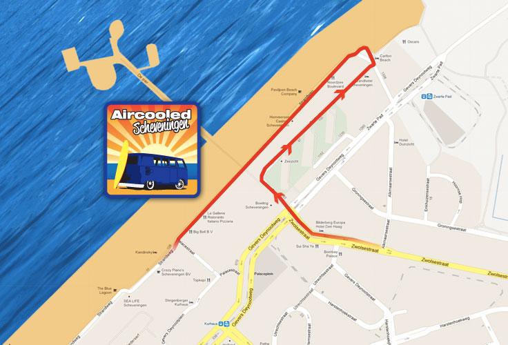 Aanrij route Aircooled Scheveningen 20-05-12